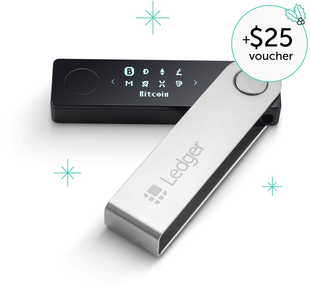 Portefeuille pour cryptomonnaies Ledger Nano X (+20,64€ de crédit sur le compte)