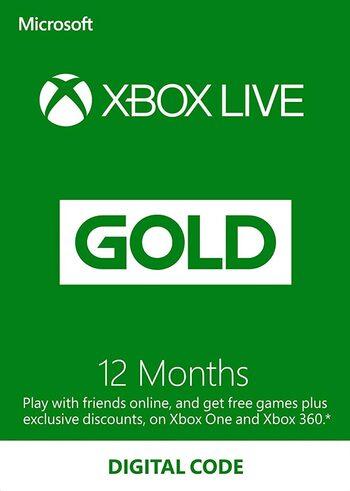 Abonnement de 12 mois au Xbox Live Gold (Dématérialisé - Compte Moyen Orient Afrique)