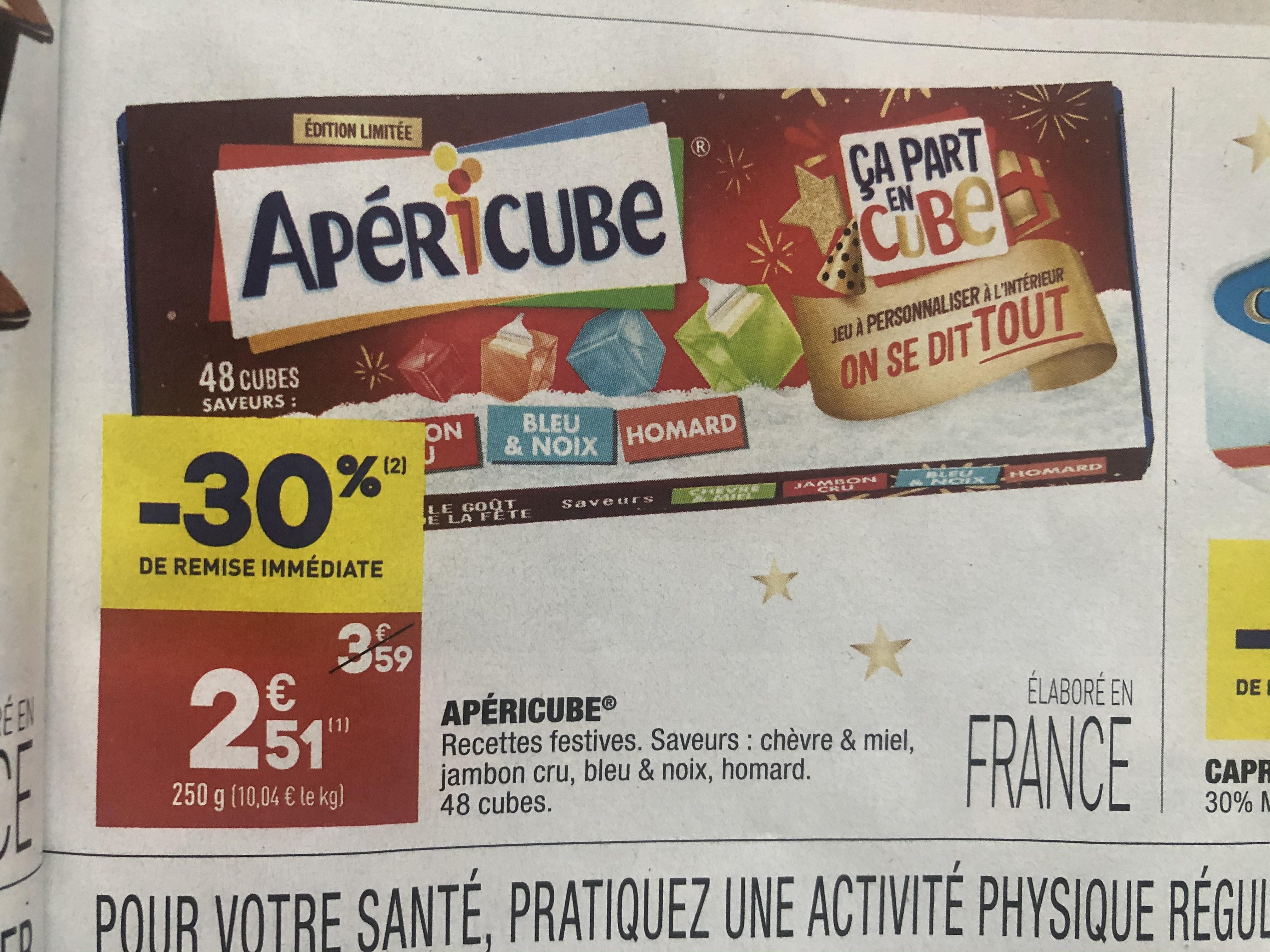Boîte Apéricube - 45 cubes