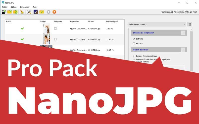 Logiciel de compression photo NanoJPG Pro V4 (Dématérialisé - fotomojo.fr)