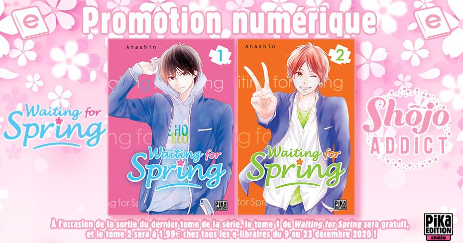 Ebook Manga Waiting for Spring : Tome 1 Gratuit, Tome 2 à 1,99 € (Dématérialisé) - Pika.fr