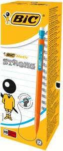 Boite de 12 porte mine Bic matic Strong - 0,9 mm, HB