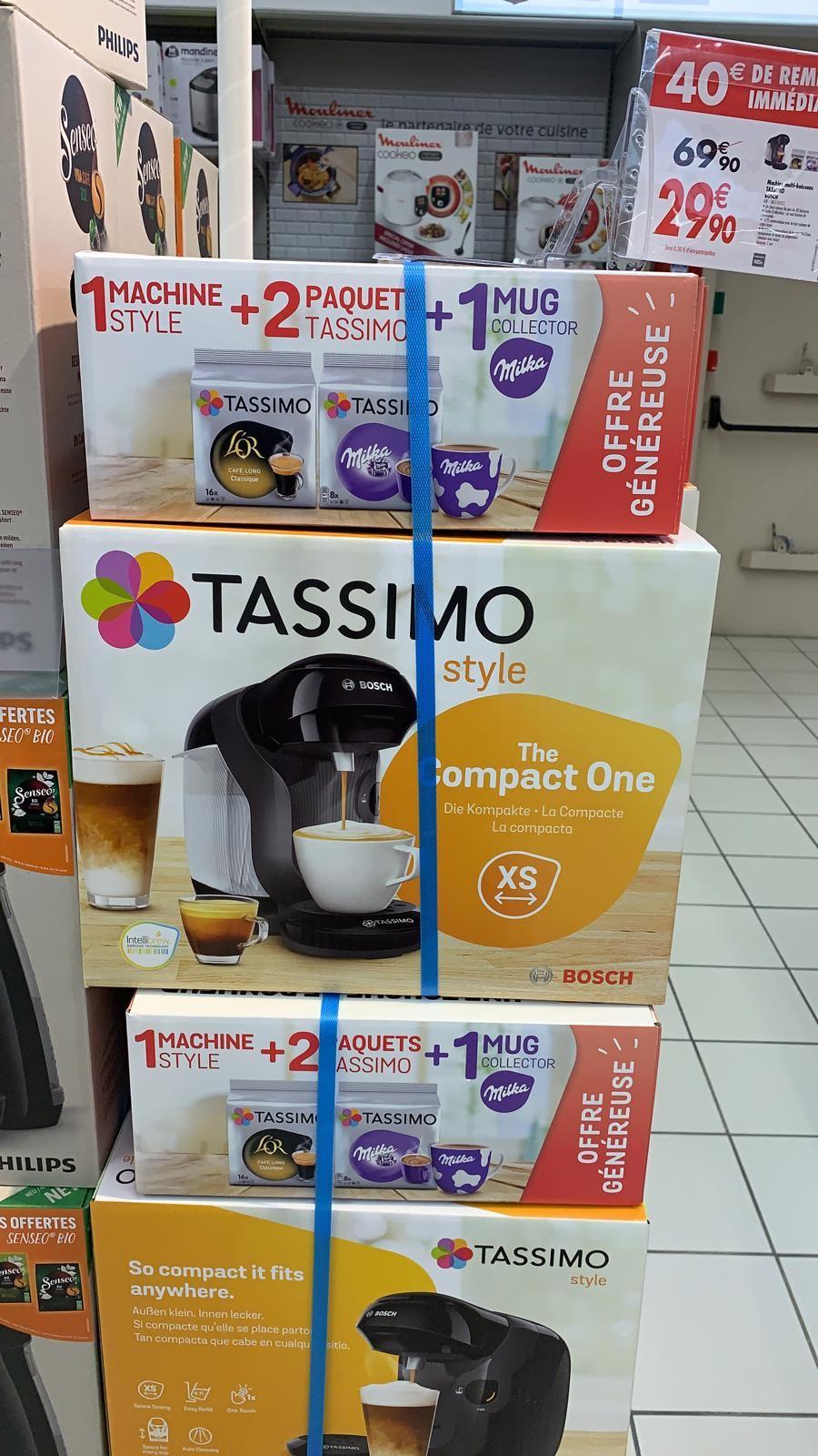 Machine à café à dosettes Bosch Tassimo Style + 2 Paquets de dosettes + 1 Mug Milka - Narbonne (11)