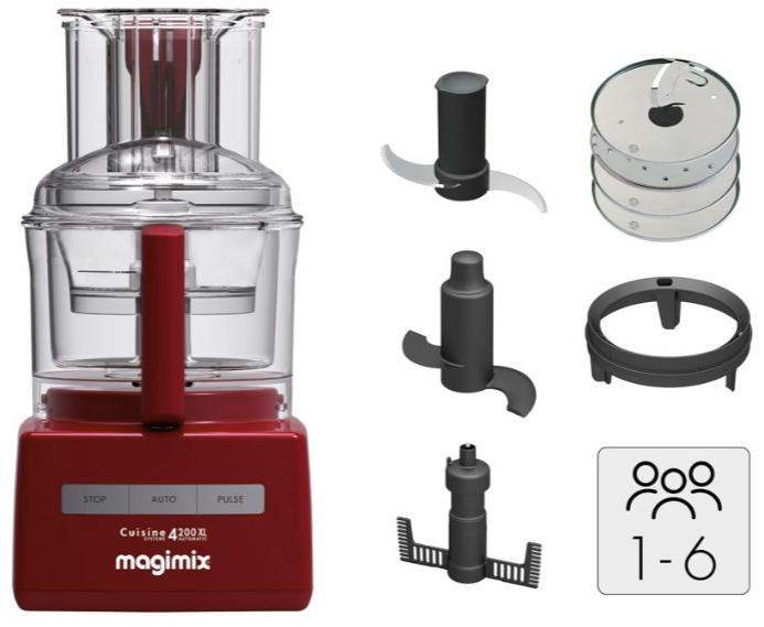 Robot multifonction Magimix CS 4200 XL ROUGE 18474F + Cadeau au choix (via ODR)