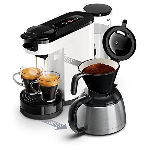Machine à dosettes et café filtre 2 en 1 Philips Senseo Switch HD6592/01 - 1450W