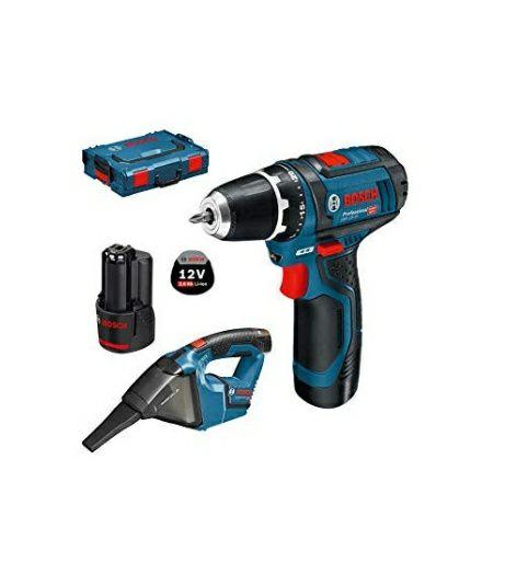 Pack perceuse-visseuse snas-fil Bosch GSR 10,8-2-LI Professional (0615990GE3) + aspirateur GAS (12 V) + 2 batteries 2.0 Ah