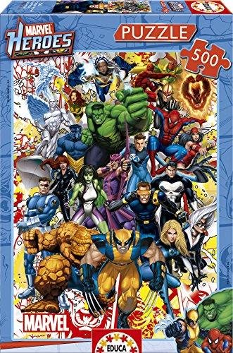 Lot de 2 puzzles Educa Borrás Marvel Heroes (15560)
