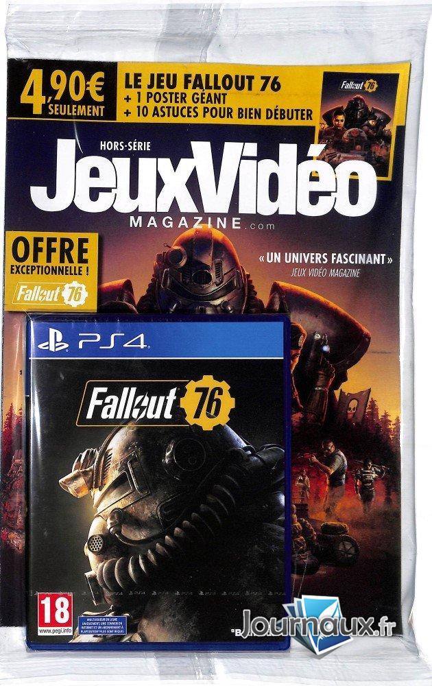 Magazine JeuxVidéo Magazine Hors-Série + Fallout 76 sur PS4 - chez tous les marchands de journaux