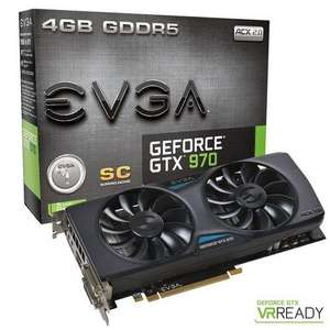 Carte Graphique GeForce GTX 970 EVGA Superclocked - 4Go + Tom Clancy's The Division offert