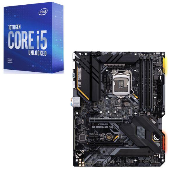 KIT processeur Intel Core I5 10600KF + Carte Mère ASUS TUF Z490 Gaming plus