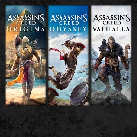 Sélection de jeux PS4 en promotion (dématérialisé - store Br) Ex: Pack Assassin's Creed Valhalla + Origins + Odyssey