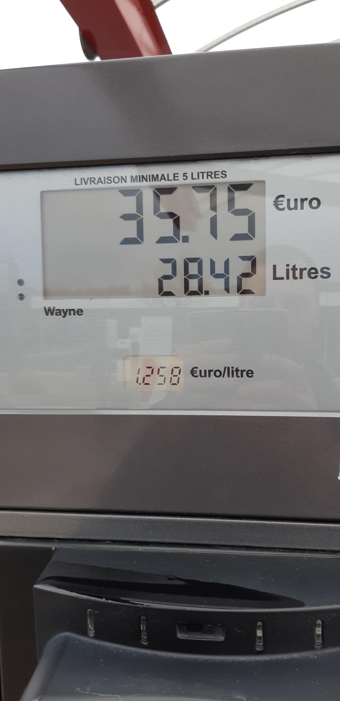 Carburants à prix coûtant - Ex : SP95-E10 à 1.258 €/L - Pont-Audemer (27)