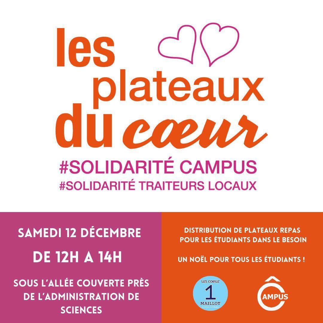 [Étudiants] Distribution gratuite de plateaux-repas - Orléans (45)