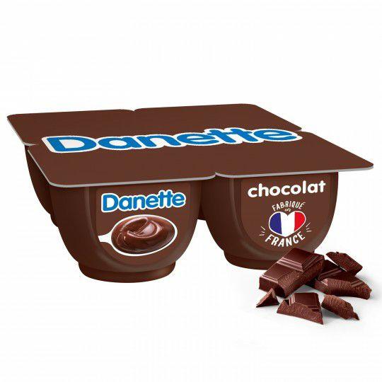 Pack de 4 crèmes dessert Danette - Variété au choix