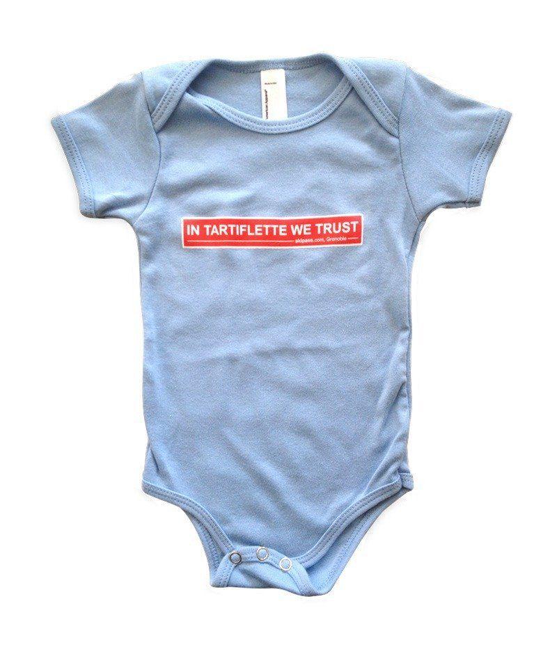 Body Bébé In Tartiflette We Trust - Classique bleu, 3 à 12 mois (skipass.com)