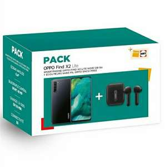 """Smartphone 6,4"""" Oppo Find X2 Lite 5G - 128Go + Écouteurs Sans-fil Oppo Enco (Via retrait 1H)"""