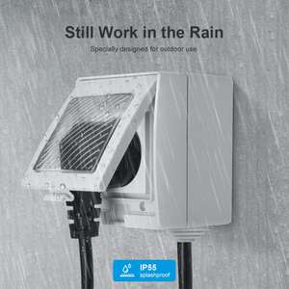 Lot de 2 prises connectées extérieur Sonoff S55 - Wifi, IP55, Compatible: Alexa / Google Home / IFTTT