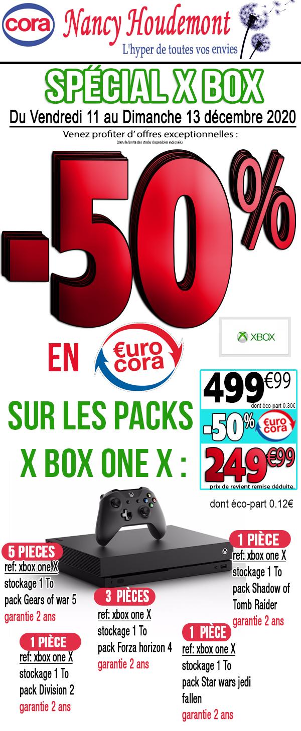 Sélection de Pack Console Microsoft Xbox one X (via 249€ sur la carte fidélité) - Nancy Houdemont (54)