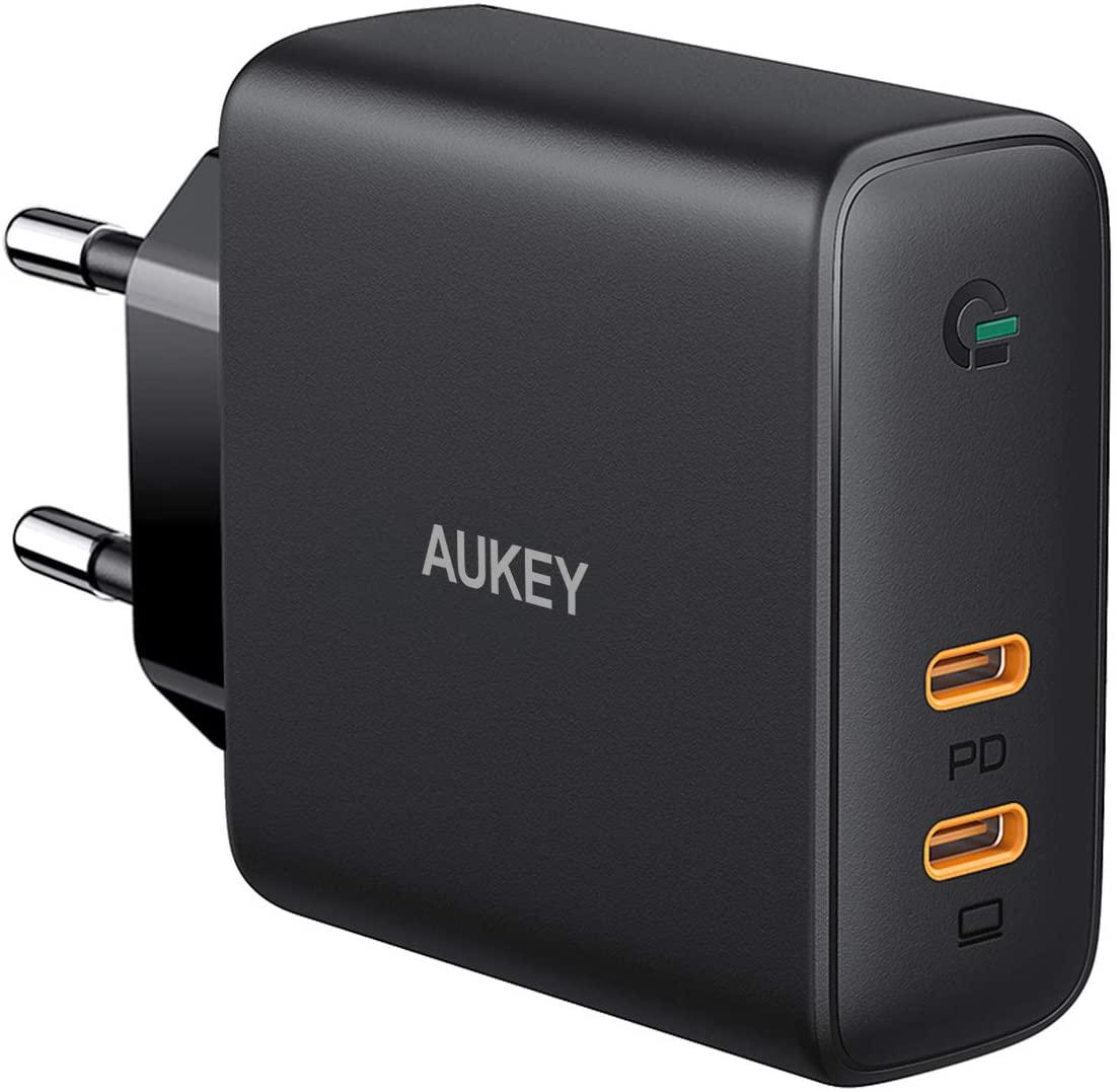 Chargeur secteur Aukey PA-D5 - USB C 60W, Power Delivery & Dynamic Detect (vendeur tiers)