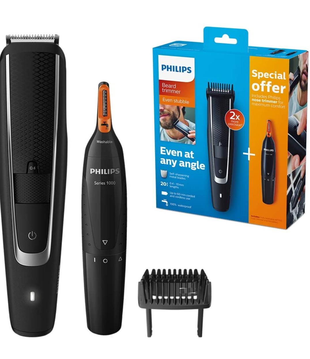 Tondeuse à cheveux/barbe et tondeuse à nez Philips Series 5000 BT5503/83