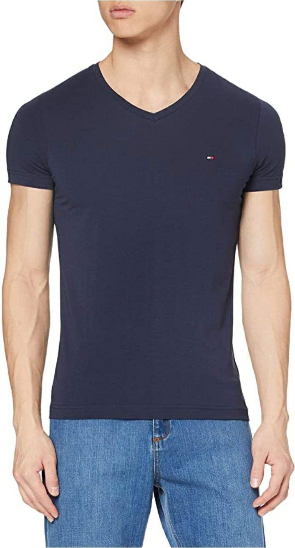 T-Shirt Tommy Hilfiger Core Stretch Slim Vneck pour Homme - Diverses tailles