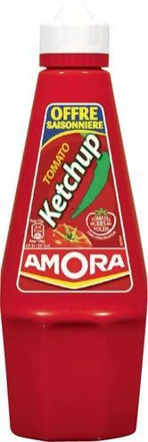 Ketchup Amora 575g (avec 40% sur la carte + bon de réduction)