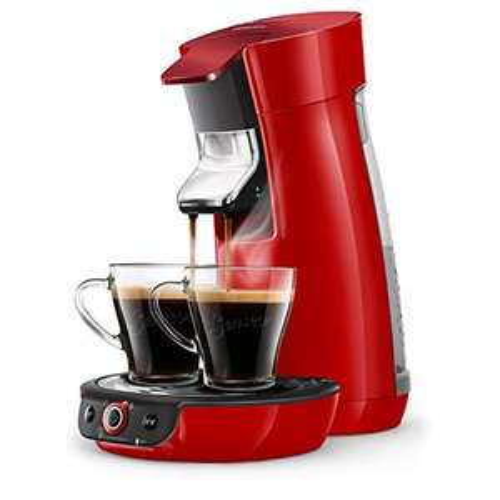 Machine à café à dosettes Senseo Philips HD6564/81 modèle Viva - Rouge Scintillant