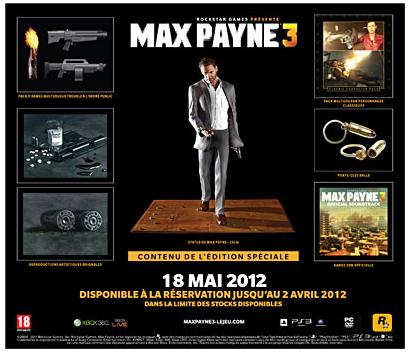 Max Payne 3 sur PC + Figurine et DLC / Goodies