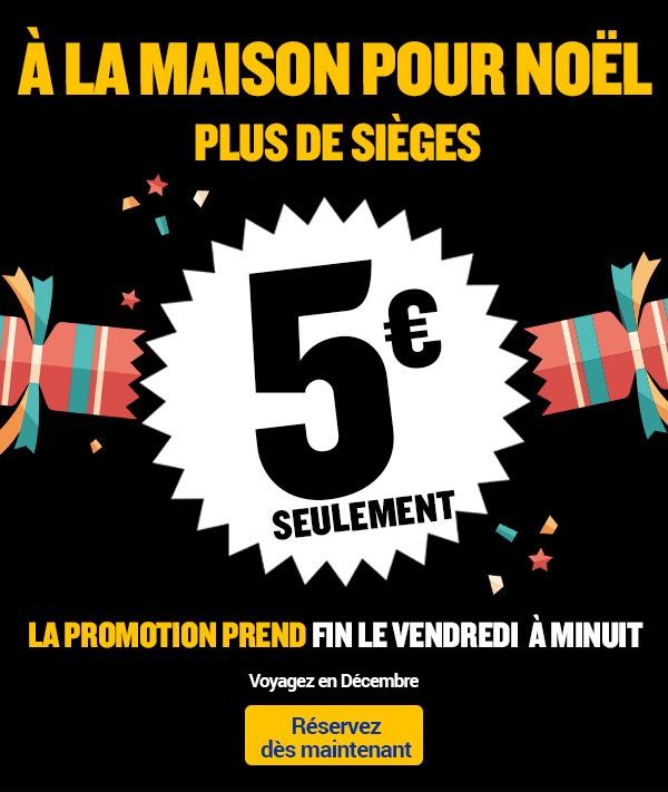 Billets Aller Simple pour le mois de Décembre à partir de 5€