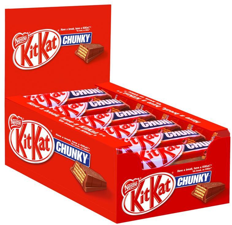 Sélection de confiseries Nestlé (Lion, KitKat, Crunch, etc.) en promo - Ex : 24 Barres Kit Kat Chunky
