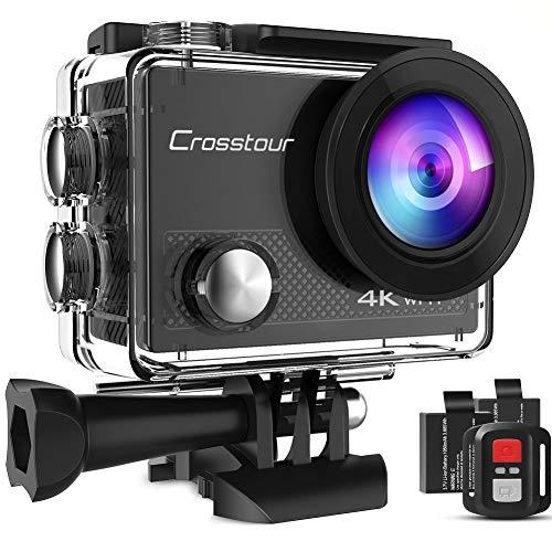 Caméra sport Crosstour - 4K Ultra HD; Wi-FI; 20 MP LDC avec Télécommande (Vendeur tiers)
