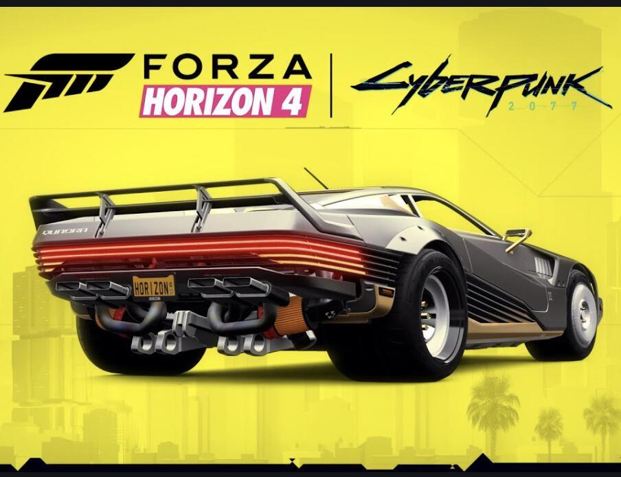 Voiture Quadra Turbo-R V-TECH de Cyberpunk 2077 gratuite sur Forza Horizon 4 (Dématérialisé)