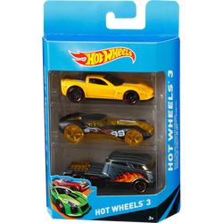 Lot de 2 packs de 3 petites-voitures Hot-Wheels - différents modèles