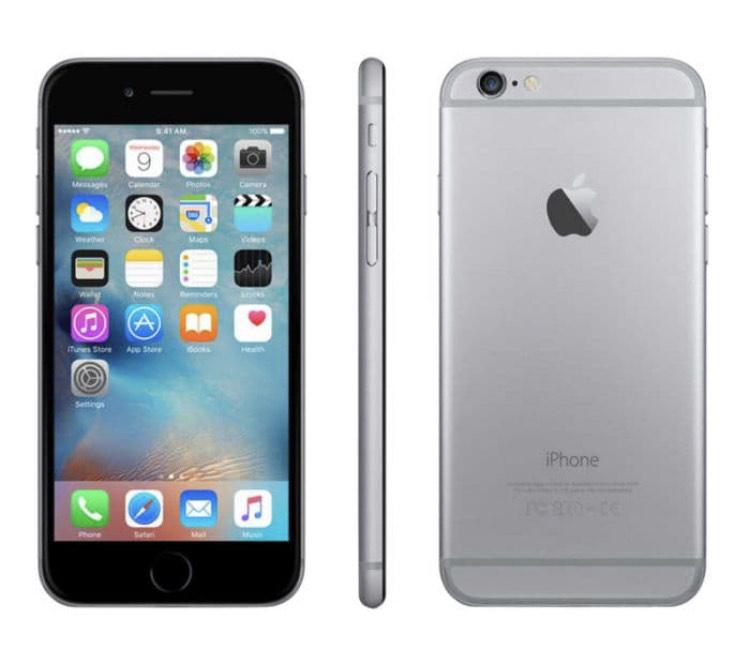 Smartphone Apple iPhone 6 - 16 Go, Sideral Grey, Reconditionné grade A+ (via 50€ ODR)