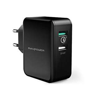 Chargeur USB Type-C & Type-A RAVPower - Power Delivery, 30W, Quick Charge 3.0 (Vendeur tiers)