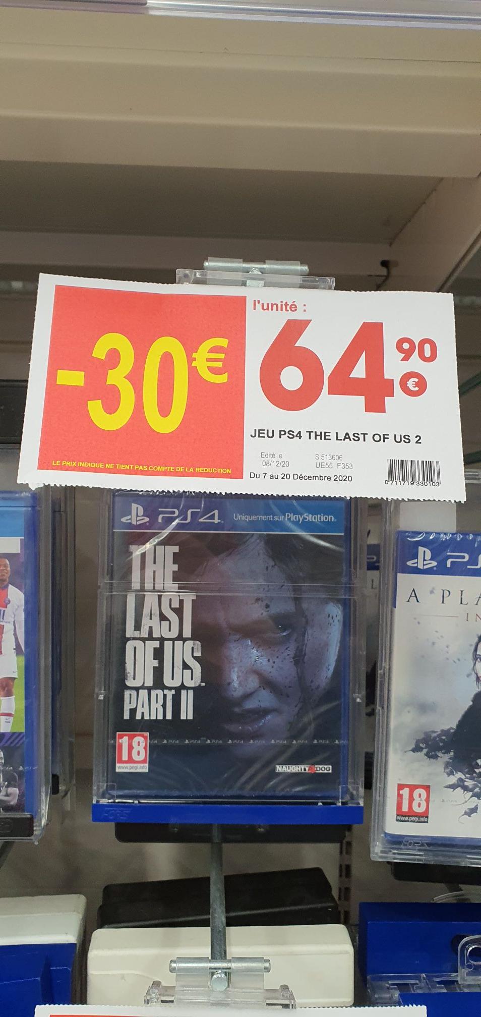 Sélection de jeux en promotion - Ex : The Last Of Us Part 2 sur PS4 - Annemasse (74)