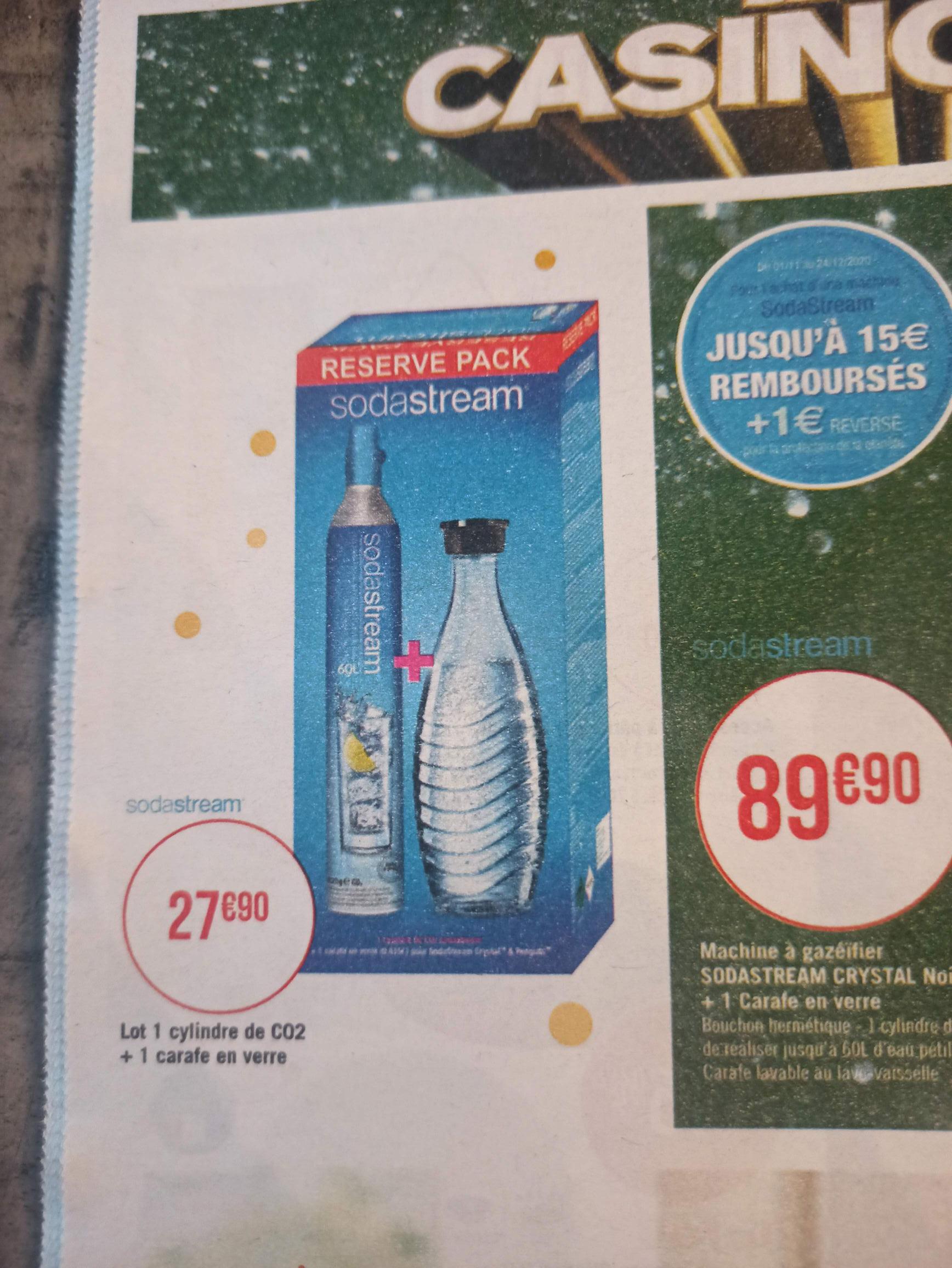 Recharge Sodastream pour échange + 1 carafe en verre - Saint-Michel-sur-Orge (91)