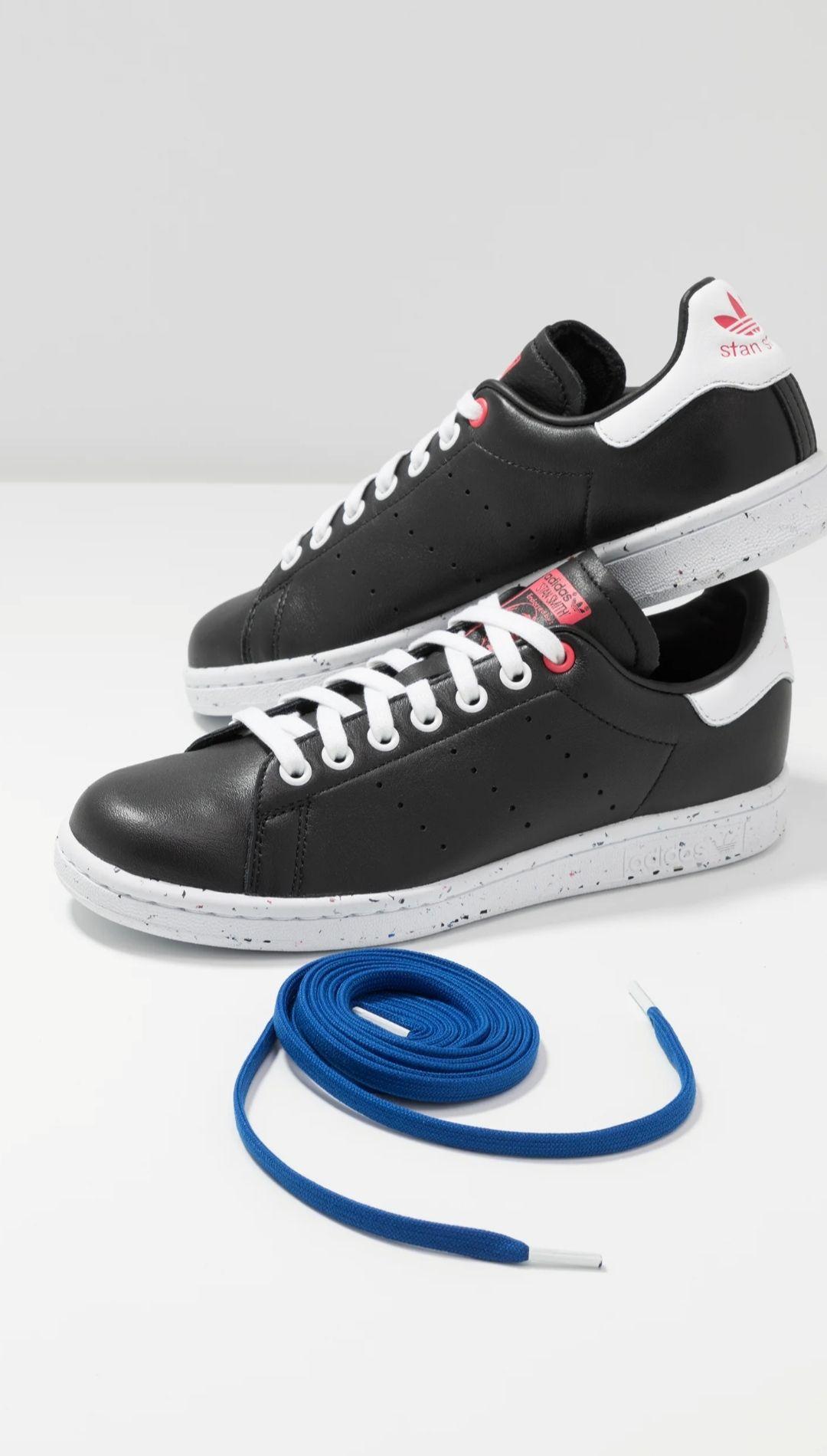 Chaussures Adidas Stan Smith - CoreBlack/Royal Blue/FootWear White