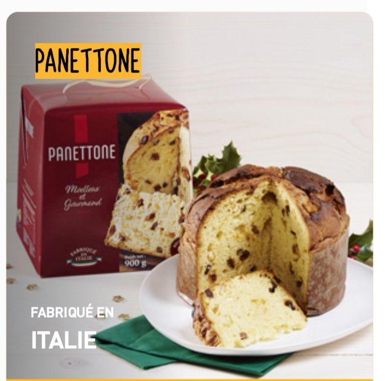 Lot de 2 gros Panettone Fabriqués en Italie (2 x 900g)