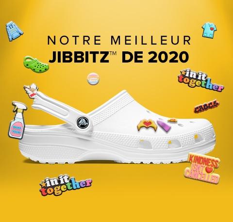Un Jibbitz offert pour l'achat de n'importe quelle paire de Crocs + Livraison gratuite et garantie le 24 pour toute commande avant le 21/12