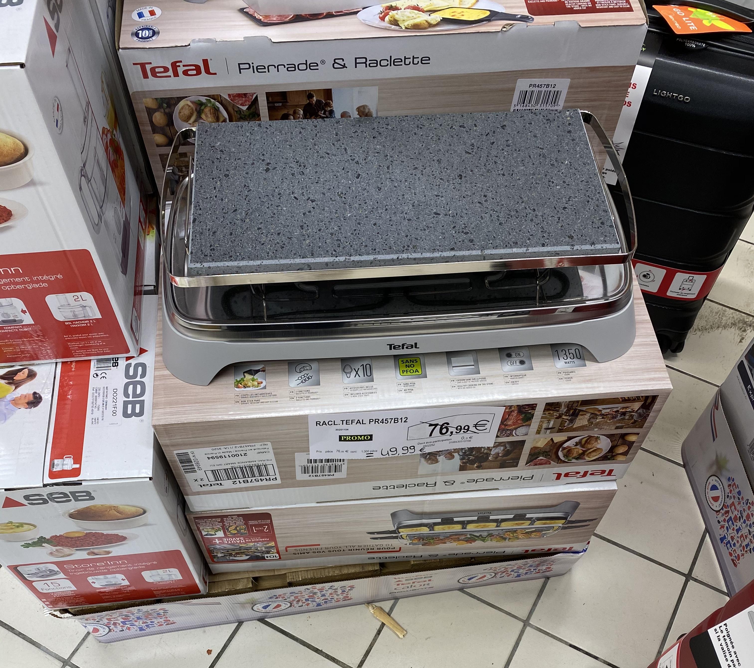 Appareil à raclette et pierrade Tefal PR457B12 - Super U Masseube (32)