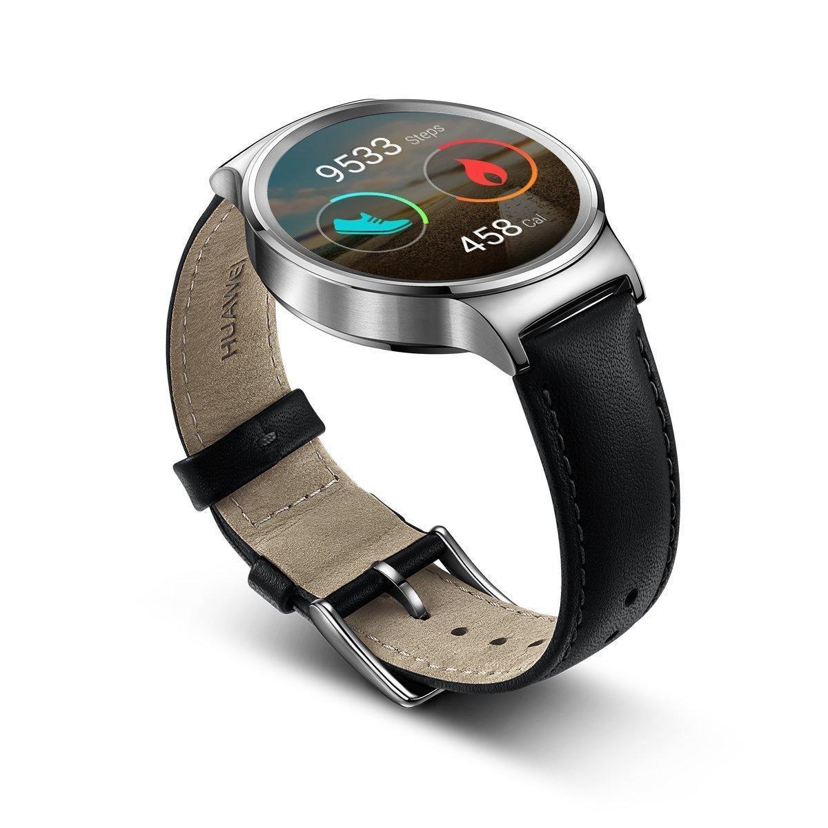 Montre connectée Huawei Watch Classic pour Smartphone Cuir Noir (via ODR 50€)