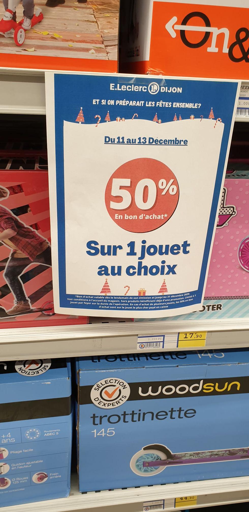 50% en bon d'achat sur 1 Jouet au choix - Dijon (21)