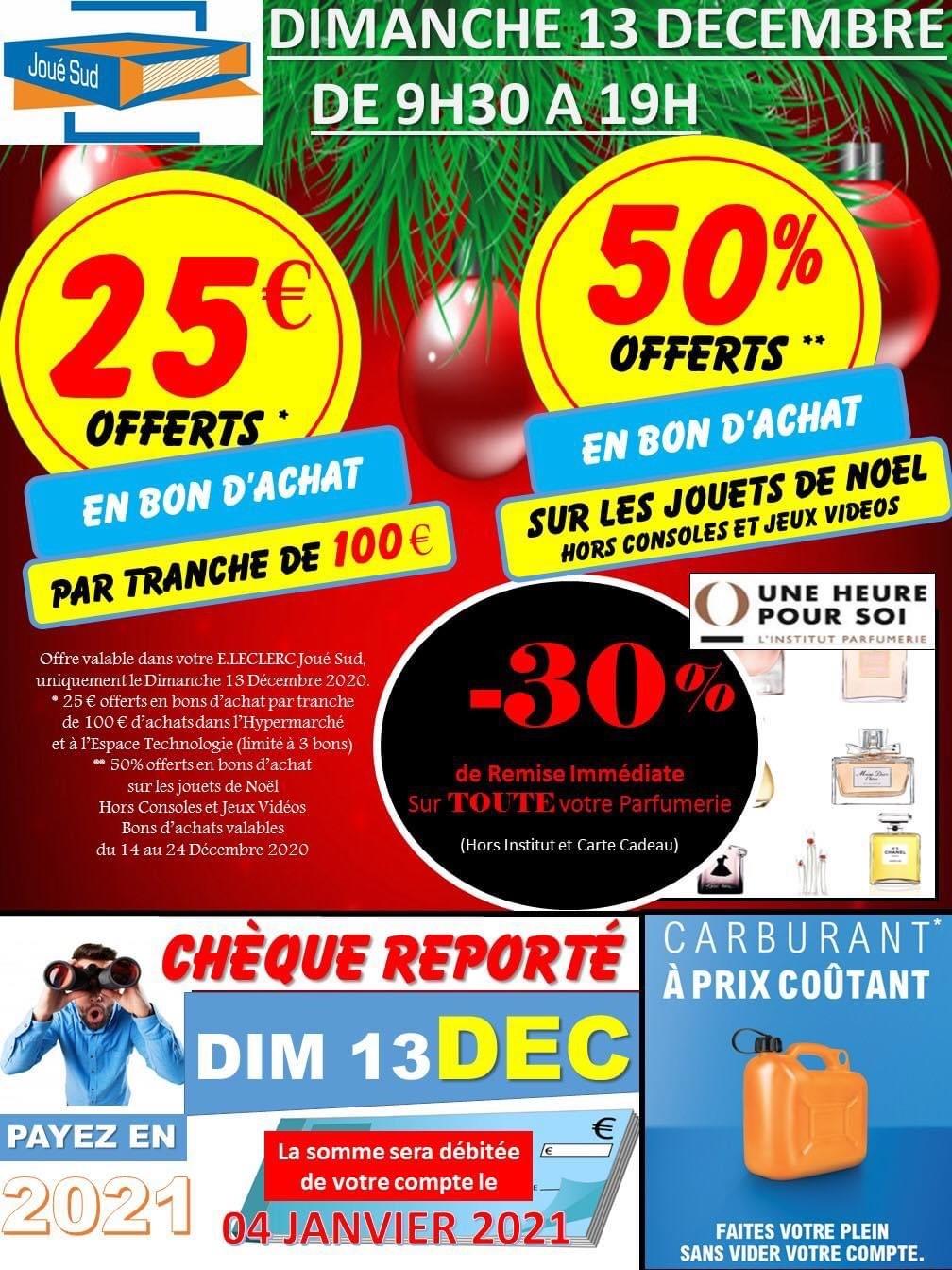 25€ en bon d'achat tous les 100€ d'achats (max. 3 bons) et 50% en bon d'achat sur les Jouets de Noël - Joué-lès-Tours (37)