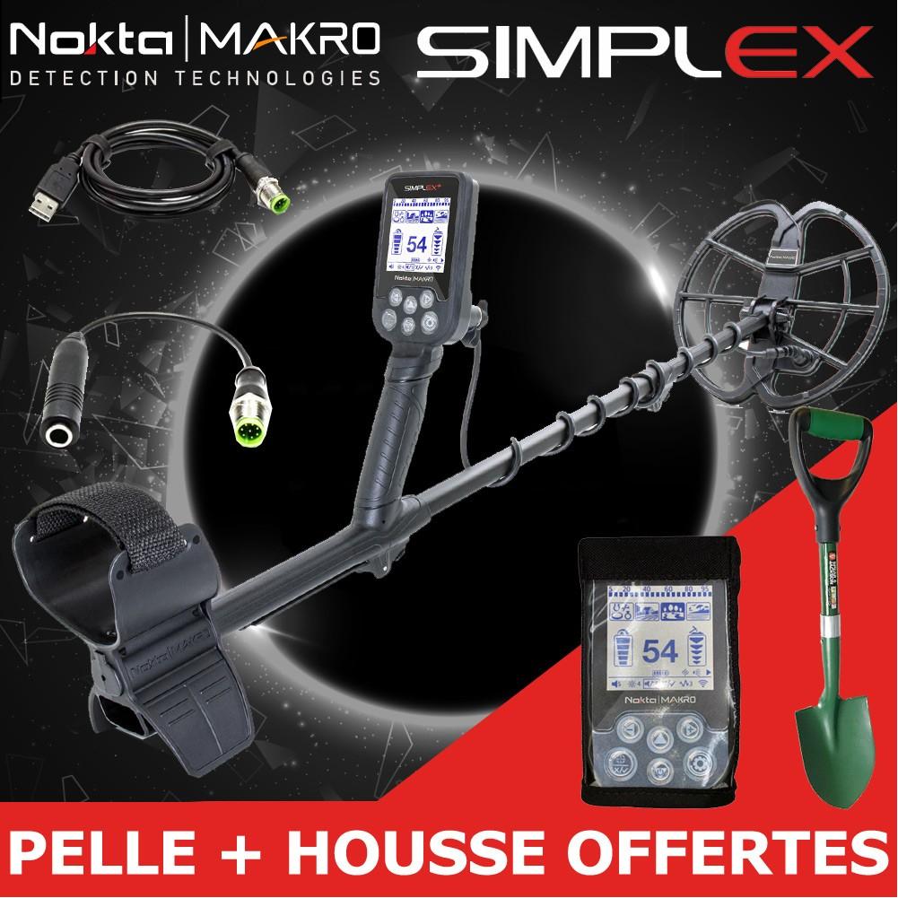 Détecteur de métaux Nocta Makro Simplex+ + housse boitier + pelle (lefouilleur.fr)