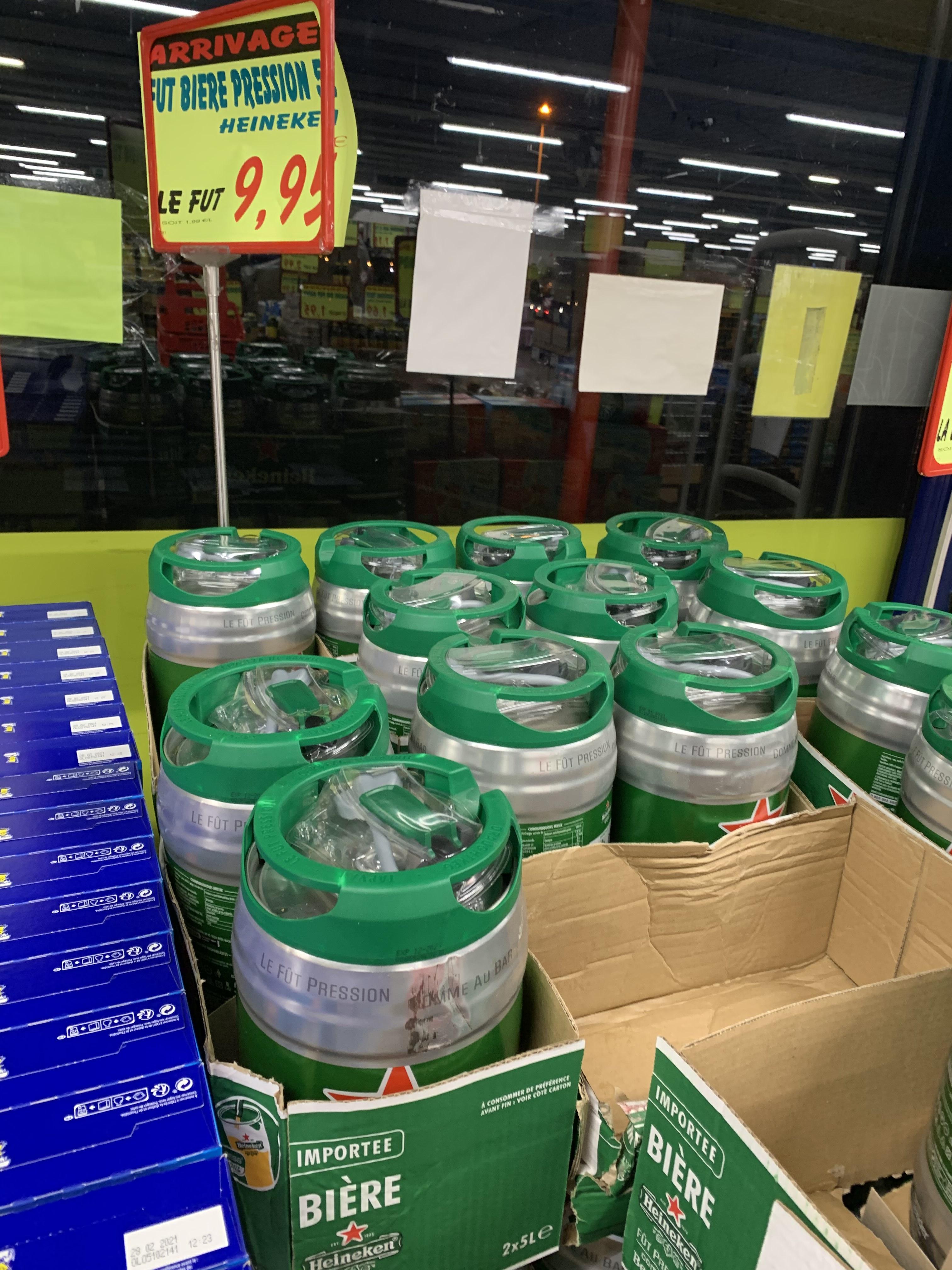 Sélection de bières en promotion - Ex : Fût de Bière Heineken (5L) - Cauffry (60)