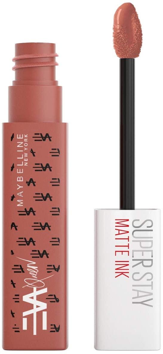 Rouge à Lèvres Mat Liquide Maybelline New York - Edition Limitee Matte Ink X Eva Queen, Longue Tenue, Teinte : 65 Seductress