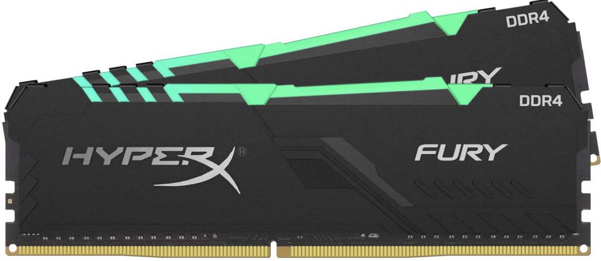 Kit mémoire RAM HyperX Fury RGB HX432C16FB3AK2/64 - 64Go (2 x 32Go), DDR4, 3200MHz, CL16