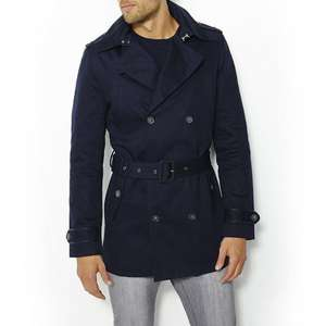 Trench court en twill (Taille au choix)