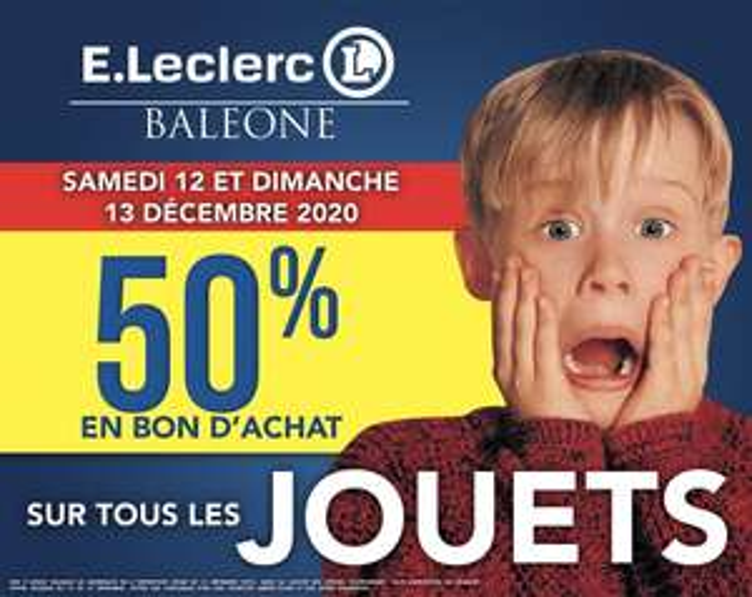 50% de remise en bon d'achat sur tous les jouets et 30% de remise fidélité sur tout le rayon jeux vidéo - Ajaccio (2A)